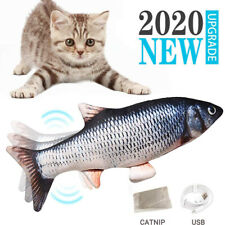 Usb Electronic Pet Cat Toy Simulation Interactive Catnip Realistic Moving Fish
