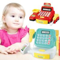 Simulated Supermarket Checkout Counter Role Cashier Cash Register Kids Toy
