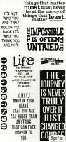 Tim Holtz Phrases 2 Stamps, Motivational Quotes, Life, Journey, Change of Course
