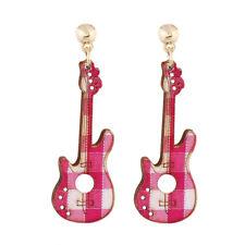 Multicolor Fashion Drop Dangle Jewelry DIY Guitar Violin Earrings Wood