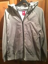 MENS NIKE HOODED JACKET COAT (GREY) GOOD CONDITION SIZE XL