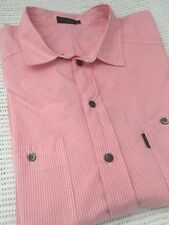 Paul Smith Formal Shirt Pink White Pinstripe XL Extra Large