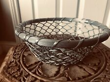 Decorative Silver Mesh Basket Can Be Used For Fruit Or Display