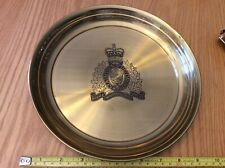 Vintage Solid Brass RCMP Police, Plate, Platter, Tray