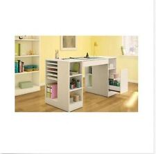 Craft Project Table Station Desk Storage Scrapbooking Cabinet White Work Hobby