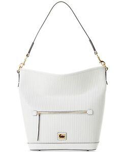 Dooney & Bourke Camden Woven Hobo White Handbag