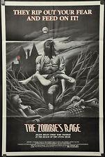 ZOMBIE'S RAGE 1982 ORIGINAL 27X41 MOVIE POSTER TISA FARROW SAVERIO VALLONE