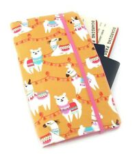 Travel Wallet, Passport Wallet, Travel Organiser, Fun Travel Gift - Llama