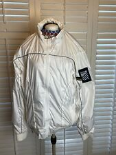 Vintage Gio Goi White Shell Zip Up Jacket With 3M Size Large L Good Condition