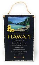 "Advice from Hawaii Island Inspirational 5.5""x8.5"" Wood Plaque Sign for Wall"