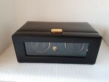 Vintage 1997 Wolf Designs DOUBLE Automatic Watch Winder Black UNTESTED AS IS