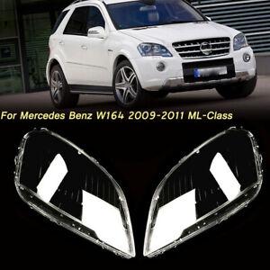 For 2009 2010 2011 Mercedes Benz W164 ML ML350 W164 Headlight Lens Cover Lenses