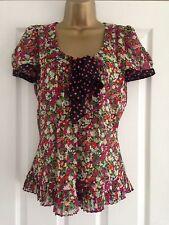 BNWT NEXT Multi Floral Print Chiffon Top Blouse & Camisole Set Size 12 RRP £25