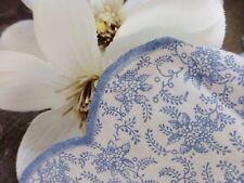 TISCHDECKE ✿ Mitteldecke Tischtuch Blumen blau weiß Biedermeier Jugendstil 84x78