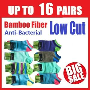 Bamboo Boat Ankle Low Cut Socks Colour Soft & Strong Short Funky Men Women 7-11