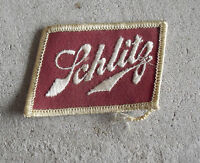 Vintage 1970s Embroidered Uniform Patch Schlitz Beer
