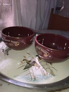 Chivas Regal Whiskey advertising snack bowls. Set of 2. Vintage. Collectible.