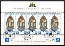SAN MARINO 1977 SG # 1082 TIMBRO ESPOSIZIONE CTO USATO foglio #A 34398