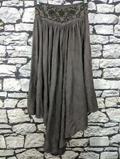 Free People FP Brown Striped Layered Maxi Skirt Women's Small