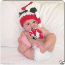 CROCHET BABY CHRISTMAS LONG TAIL ELF HAT - PHOTO PROP