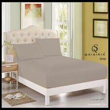 Draps-housses gris pour le lit Chambre à coucher en 100% coton