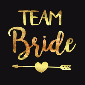 10pcs Team Bride Temporary Tattoo Bachelorette Party Wedding Waterproof Sticker