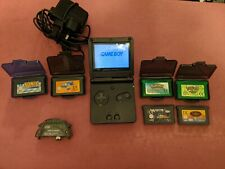 Gameboy Advance SP +pokemon leaf green and emerald +more