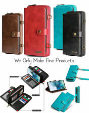 Leather Magnetic Removable Wallet Case Crossbody Bag for iPhone Samsung Google