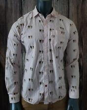 Marc Ecko Shirt Men's M Button-Front Longsleeve  Graphics Shirt Medium