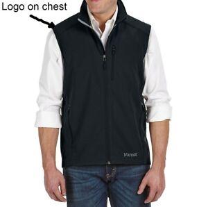 MARMOT APPROACH SOFT SHELL VEST MEN'S SIZE XL BLACK <dev/> LOGO ON CHEST NWT $95