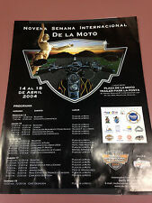 Novena Semana Internacional De La Moto Mexican Motorcycle Event Poster 2004
