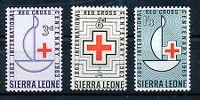 SIERRA LEONE 1963 CENTENARY OF THE RED CROSS SG270/272 BLOCKS OF 4 MNH