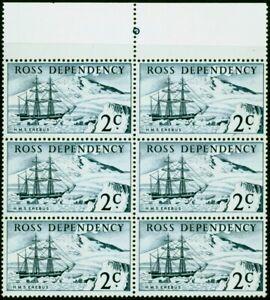 Ross Dependency 1967 2c Indigo SG5 Very Fine MNH Block of 6