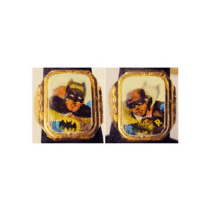 Rare 1960's Batman / Robin Gumball Flicker Ring Hong Kong Issue White Background