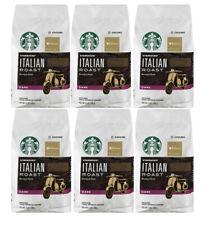 Starbucks (6-Pack) Italian Roast Ground Coffee 12oz Bags Each Best By 8/11/2020