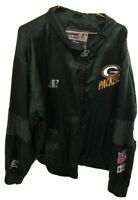 Vtg NFL Pro Line Green Bay Packers Logo Athletic Jacket Mens Size LG - NM