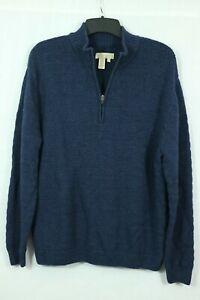 Territory Ahead 100% Wool Zip Neck Sweater Men's XL Pullover SOFT Knit Mock