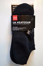 Under Armour Men's No Show Socks 3 pack Medium Black SoLo Training UA Heatgear