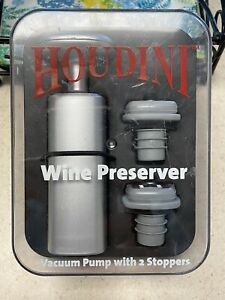 Houdini Wine Preserver Vacuum Pump with 2 Stoppers