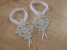 LOVE Crystal Barefoot Sandals, Wedding Sandals, Bridal Sandals, Rhinestone shoes