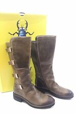 Fly London Felk Women Leather Rug Olive Boot Size EU 38  $ 385