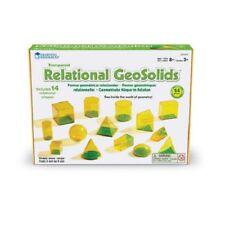 RELATIONAL GEOSOLIDS - plastic 5cm geometry school maths 14 shapes resource 3d