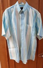 JOSEPH A BANK Shirt Men's Large Traveler's Collection Multi Striped Linen S/S