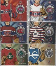 Canada 1909-2009 Montreal Canadiens 50c coins complete set 1 to 6 w/Rare #1 & 2