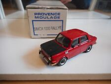 Hand Built Model Provence Moulage Simca 1000 Rallye in Red 1:43 in Box