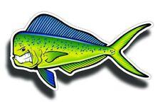Angry Mahi Fish Fishing Vinyl Sticker Saltwater Decal Car Cup Boat Cooler Bumper