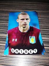 Signiertes Foto Ritchie de Laet Aston Villa NEU