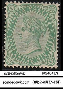 INDIA - 1886 4a6p QV SG#97 yellew-green - 1V - MINT HINGED