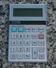 Sharp EL-377M ElsiMate Twin Power 10 Digit Tax Business Pocket Calculator Tested