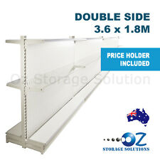 1.8m H x 3.6m W Double Sided Retail Gondola Supermarket Shelving Shop Display